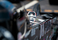 Sep 26, 2020; Gainesville, Florida, USA; Detailed view of a tachometer on the dragster of NHRA top fuel driver Steve Torrence drives a Don Garlits tribute dragster during qualifying for the Gatornationals at Gainesville Raceway. Mandatory Credit: Mark J. Rebilas-USA TODAY Sports