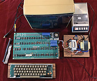 BNPS.co.uk (01202 558833)<br /> Pic: RRAuction/BNPS<br /> <br /> Pictured: The Apple-1 computer.<br /> <br /> A fully-working Apple-1 computer has sold for £273,000.<br /> <br /> The pioneering machine is one of the 200 'motherboards' Apple founder Steve Jobs and his associate Steve Wozniak designed in 1976.<br />  <br /> Around 70 Apple-1 computers are known to exist today and of those less than 10 still work.