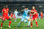 Jiangsu FC Midfielder Tao Yuan (C) fights for the ball with Adelaide United Defender Tarek Elrich (R) during the AFC Champions League 2017 Group H match between Jiangsu FC (CHN) vs Adelaide United (AUS) at the Nanjing Olympics Sports Center on 01 March 2017 in Nanjing, China. Photo by Marcio Rodrigo Machado / Power Sport Images