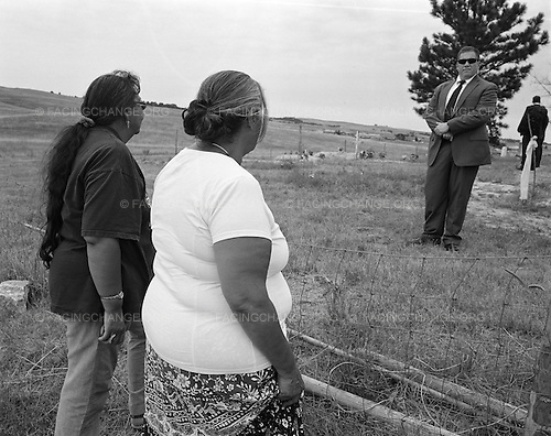 Wounded Knee, South Dakota<br /> July 28, 2011<br /> <br /> Pine Ridge Reservation residents wait for US Attorney General Eric Holder to arrive at the Wounded Knee burial ground on an official visit.