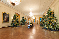 The East Room of the White House is decorated for the holiday season Monday, Nov. 26, 2018. (Official White House Photo by Andrea Hanks)