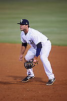 Tampa Yankees first baseman Mike Ford (25) during a game against the Lakeland Flying Tigers on April 8, 2016 at George M. Steinbrenner Field in Tampa, Florida.  Tampa defeated Lakeland 7-1.  (Mike Janes/Four Seam Images)