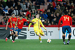 (L-R) Spain's Sergio Reguilon , Spain's Carles Ale?a and Romania's Olaru Darius  during the International Friendly match on 21th March, 2019 in Granada, Spain. (ALTERPHOTOS/Alconada)