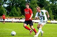 LEEK - Voetbal, Pelikaan S - FC Groningen , voorbereiding seizoen 2021-2022, oefenduel, 03-07-2021,  FC Groningen speler Romano Postema haalt uit