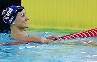 L'australiana Sophie Edington vince i 100 metri dorso donne al trofeo Sette Colli di Roma, 18 giugno 2011..Australia's Sophie Edington wins the women's 100 meters backstroke at the Seven Hills trophy in Rome, 18 june 2011..UPDATE IMAGES PRESS/Riccardo De Luca