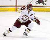 Matt Price (BC - 25) - The Boston College Eagles defeated the Merrimack College Warriors 4-3 on Friday, October 30, 2009, at Conte Forum in Chestnut Hill, Massachusetts.