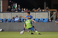 SAN JOSE, CA - MAY 12: Carlos Fierro #7 of the San Jose Earthquakes during a game between Seattle Sounders FC and San Jose Earthquakes at PayPal Park on May 12, 2021 in San Jose, California.
