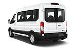 Car pictures of rear three quarter view of 2021 Ford Transit 350-XLT 5 Door Passenger Van Angular Rear