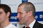 England Coach Stuart Lancaster at the official launch of the RBS Six Nations rugby tournament at the Hurlingham Club in London..