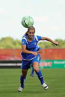 Heather Mitts (2) of the Boston Breakers. Sky Blue FC defeated the Boston Breakers 1-0 during a Women's Professional Soccer match at Yurcak Field in Piscataway, NJ, on July 4, 2009.