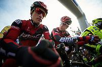 Paris-Roubaix 2012 ..Taylor Phinney under the start arch