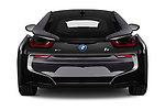 Straight rear view of a 2019 BMW i8 Base 2 Door Coupe stock images
