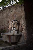 Rome Colle Aventino,  Fountain of the Mascherone of Santa Sabina<br /> The fountain of the Mascherone di Santa Sabina is located in Piazza Pietro d'Illiria, in the part of the Rione Ripa that rises on the Aventine hill.