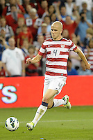 U.S midfielder Michael Bradley (4) in action..USMNT defeated Guatemala 3-1 in World Cup qualifying play at LIVESTRONG Sporting Park, Kansas City, KS.