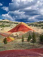 Red Hill and clouds. Painted Hills, John Day Fossil Beds National Monument, Oregon