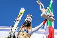 13th February 2021, Cortina, Italy; FIS World Championship Womens Downhill Skiing;  Gold medal winner and downhill world champion 2021 Corinne Suter of Switzerland
