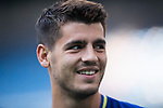 Alvaro Morata of Spain smiles prior the 2018 FIFA World Cup Russia Final Qualification Round 1 Group G match between Spain and Italy on 02 September 2017, at Santiago Bernabeu Stadium, in Madrid, Spain. Photo by Diego Gonzalez / Power Sport Images