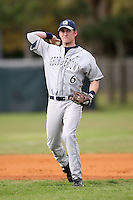February 22, 2009:  Third baseman Sean Lamont (6) of Georgetown University  during the Big East-Big Ten Challenge at Naimoli Complex in St. Petersburg, FL.  Photo by:  Mike Janes/Four Seam Images