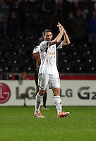 Wednesday, 01 January 2014<br /> Pictured: Angel Rangel.<br /> Re: Barclay's Premier League, Swansea City FC v Manchester City at the Liberty Stadium, south Wales.