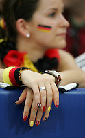 German Fan.  Portugal defeated England on penalty kicks after playing to a 0-0 tie in regulation in their FIFA World Cup quarterfinal match at FIFA World Cup Stadium in Gelsenkirchen, Germany, July 1, 2006.