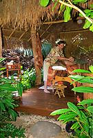Woman recieving Hawaiian Lomi Lomi massage at the Mauna Lani spa on the Big Island of Hawaii