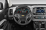 Car pictures of steering wheel view of a 2017 Chevrolet Colorado LT Crew Cab Long Box 4 Door Truck Steering Wheel