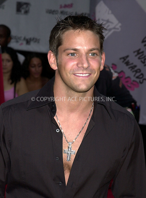 Jeff Timmons of 98 Degrees at 2003 Video Music Awards. New York, August 28, 2003. Please byline: NY Photo Press.   ..*PAY-PER-USE*      ....NY Photo Press:  ..phone (646) 267-6913;   ..e-mail: info@nyphotopress.com