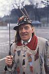 Ripon Sword Dance Play. Ripon Yorkshire Uk 1970s Boxing Day. Eddie Hardcastle leader of the Ripon team.1971