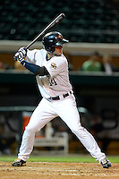 Lakeland Flying Tigers outfielder Jeff McVaney #14 during a game against the Brevard County Manatees on April 10, 2013 at Joker Marchant Stadium in Lakeland, Florida.  Brevard County defeated Lakeland 7-6.  (Mike Janes/Four Seam Images)