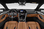 Stock photo of straight dashboard view of 2020 BMW M8-Gran-Coupe Competition 4 Door Sedan Dashboard