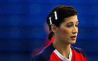 22 OCT 2011 - LONDON, GBR - Britain's Holly Lam-Moores prepares for the start of the Women's 2012 European Handball Championship qualification match against Russia at the National Sports Centre at Crystal Palace (PHOTO (C) NIGEL FARROW)