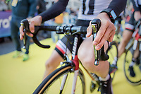 Team Sunweb at the (new) race start in Antwerpen<br /> <br /> 101th Ronde Van Vlaanderen 2017 (1.UWT)<br /> 1day race: Antwerp › Oudenaarde - BEL (260km)