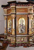 Renaisance-Kanzel (1600)  in der Ibs Kirke in Ibsker auf der Insel Bornholm, Dänemark, Europa<br /> Renaisssnce Pulpit in Ibs Kirke in Ibsker, Isle of Bornholm Denmark