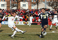 Casey Townsend #11of the University of Maryland during an NCAA quarter-final match against the University of Michigan at Ludwig Field, University of Maryland, College Park, Maryland on December 4 2010.Michigan won 3-2 AET.