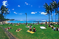 Kuhio Beach Park in Waikiki offers a place for sun, fun, and relaxation.