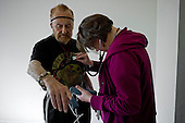 Los Angeles, California<br /> January 28, 2014<br /> <br /> Former WWII homeless veteran Ivan Bennett 85 yrs old in a home he moved into 5 days ago. He is checked out by a VA nurse regularly.