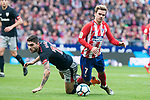 Atletico de Madrid Antoine Griezmann and Athletic Club Unai Nunez  during La Liga match between Atletico de Madrid and Athletic Club and Wanda Metropolitano in Madrid , Spain. February 18, 2018. (ALTERPHOTOS/Borja B.Hojas)