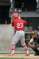 Johnson City shortstop Pete Kozma (27) at bat versus Princeton at Hunnicutt Field in Princeton, WV, Friday, August 10, 2007.