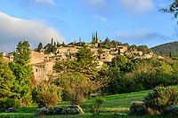 France, Drome, Mirmande, labelled Les Plus Beaux Villages de France (The Most beautiful Villages of France), general view // France, Drôme (26), Mirmande, labellisé Les Plus Beaux Villages de France, le village, vue générale