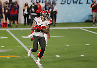 7th February 2021, Tampa Bay, Florida, USA;  Tampa Bay Buccaneers Wide Receiver Mike Evans (13) catches a pass in the second quarter during Super Bowl LV between the Kansas City Chiefs and the Tampa Bay Buccaneers on February 07, 2021, at Raymond James Stadium