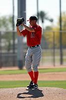 Andrew Taylor - Los Angeles Angels - 2009 spring training.Photo by:  Bill Mitchell/Four Seam Images