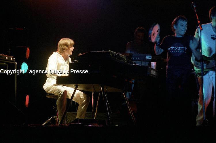 The Animals, en spectacle, le 16 juillet 1983, au Palladium<br /> <br /> PHOTO : Agence Quebec Presse