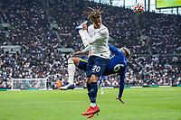 19th September 2021; Tottenham Hotspur Stadium, Tottenham, London; Dele Alli clashes with Thiago Silva during the Premier League match between Tottenham Hotspur and Chelsea at Tottenham Hotspur Stadium