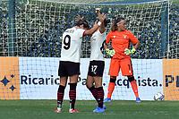 11th September 2021;  Mirko Fersini Stadium, Rome, Italy ; Serie A Womens championship football, Lazio versus Milan ; Valentina Giacinti of Milan celebrates after scoring her goal