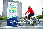 Like Bikes: Pictured to launch bike hire for greenway at Listowel Castle on Monday last was Diane Thornton.