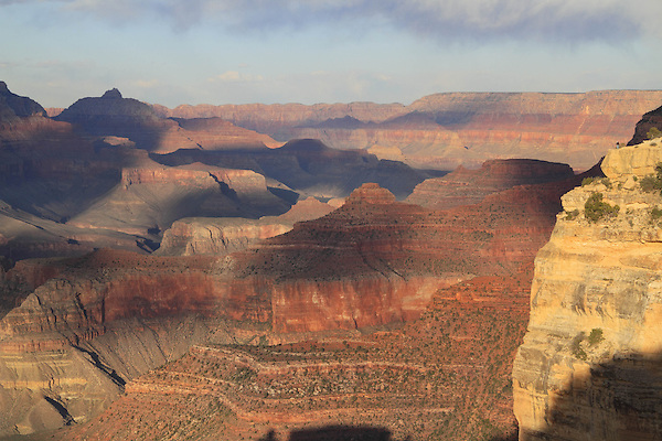 View from Powell Point and the South Rim towards the Tonto Plateau, Grand Canyon National Park, northern Arizona, USA .  John offers private photo tours in Grand Canyon National Park and throughout Arizona, Utah and Colorado. Year-round.
