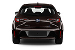 Straight rear view of 2019 Toyota Corolla-Hybrid Premium 5 Door Hatchback Rear View  stock images