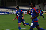 JSW Bengaluru FC (India) players Watson(L) and Vineeth are celebrating after the goal during match AFCCQF1 – AFC Cup 2016 Quarter Finals<br /> JSWBENGALURUFC(IND) – JSW Bengaluru FC (India)<br /> vs<br /> TAMPINESROVERS(SIN) – Tampines Rovers (Singapore)<br /> at Kanteerava Stadium, Bangalore, Karnataka on 14th Septembar 2016.<br /> Photo by Saikat Das/Lagardere Sports