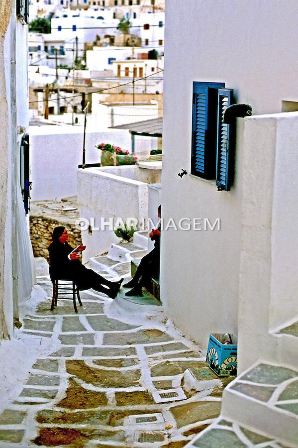 Vielas em Santorini, Grécia. 2000. Foto de Renata Mello.