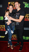 """CENTURY CITY, CA, USA - SEPTEMBER 27: Jaime King, James Knight Newman, Kyle Newman arrive at the Los Angeles Screening Of Disney XD's """"Star Wars Rebels: Spark Of Rebellion"""" held at the AMC Century City 15 Theatre on September 27, 2014 in Century City, California, United States. (Photo by Celebrity Monitor)"""